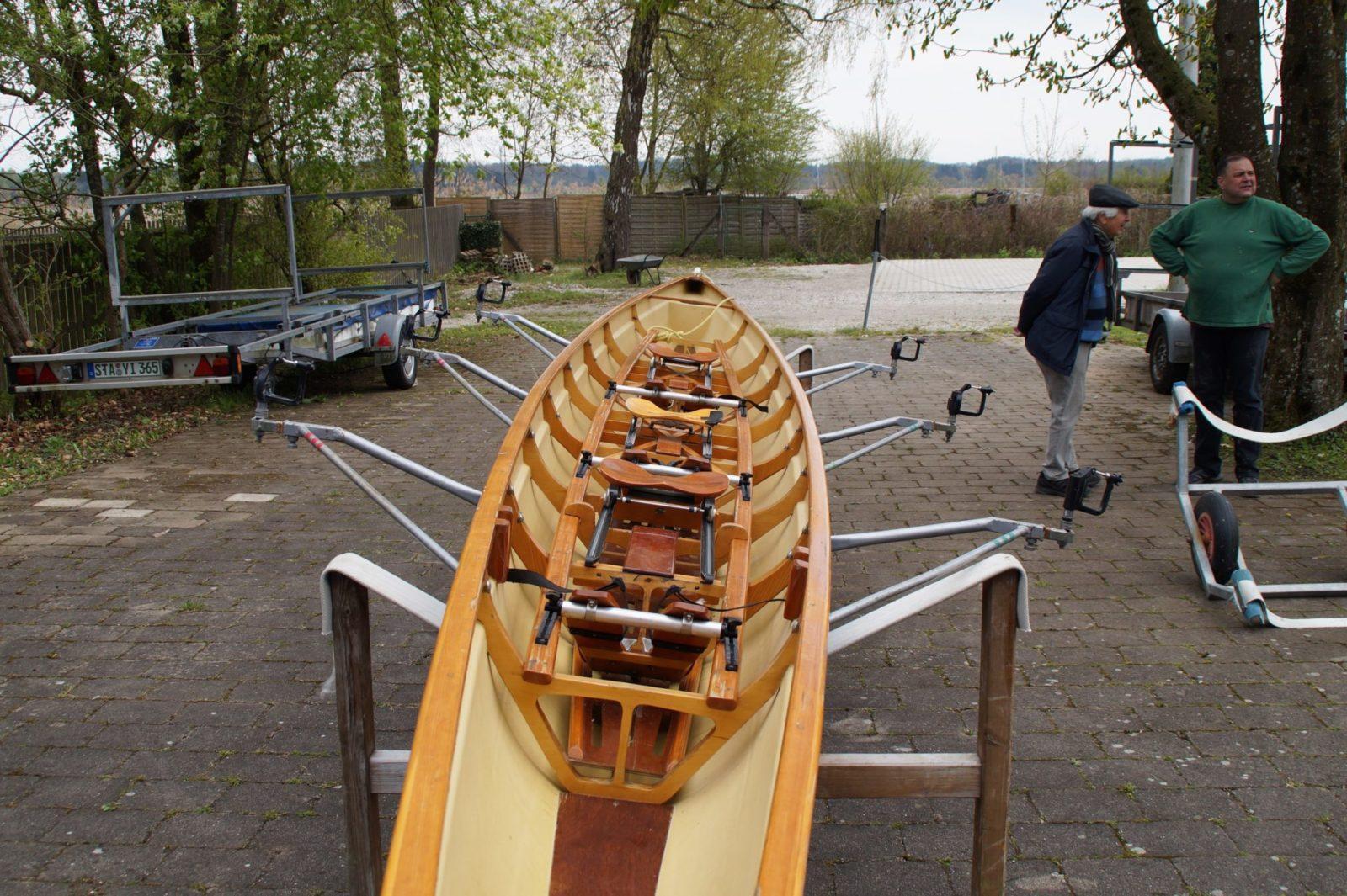 dreier-Ruderboot